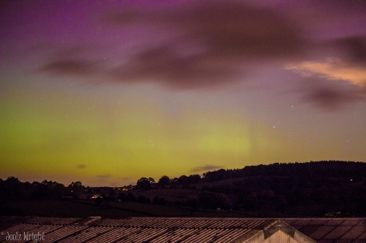 The Northern Lights from the caravan site